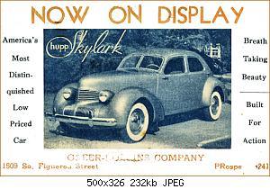Нажмите на изображение для увеличения Название: Hupmobile 1940 Skylark Postcard.jpg Просмотров: 1 Размер:232.4 Кб ID:1201295