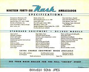 Нажмите на изображение для увеличения Название: 1946 Nash Ambassador-04.jpg Просмотров: 0 Размер:92.4 Кб ID:1009177