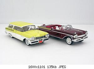 1957 Mercury Voyager 4dr Station Wagon + Turnpike Cruiser 2dr Convertible _01.jpg