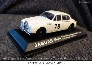 Atlas sports car Jaguar MK ll Winner Tour de France 1960 white  1.jpg