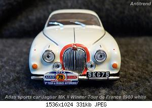 Atlas sports car Jaguar MK ll Winner Tour de France 1960 white  2.jpg