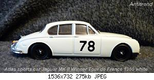 Atlas sports car Jaguar MK ll Winner Tour de France 1960 white  4.jpg