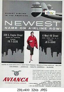 Нажмите на изображение для увеличения Название: Avianca-Columbian-National-Airways-1958-Constellation-2.jpg Просмотров: 2 Размер:32.5 Кб ID:1189060