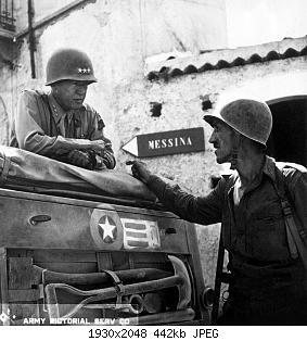 Нажмите на изображение для увеличения Название: Patton_speaking_with_Lt._Col._Lyle_Bernard,_at_Brolo,_circa_1943.jpg Просмотров: 0 Размер:441.6 Кб ID:878703