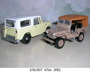 redjeek 1945 Jeep CJ2A & 1961 International Scout 80 1.JPG