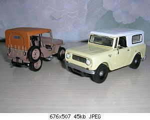 redjeek 1945 Jeep CJ2A & 1961 International Scout 80.JPG