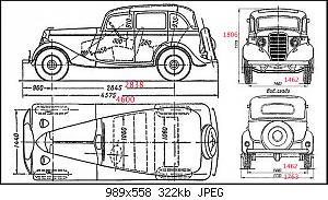 Нажмите на изображение для увеличения Название: ГАЗ М1_размеры модели.jpg Просмотров: 7 Размер:322.2 Кб ID:1142155