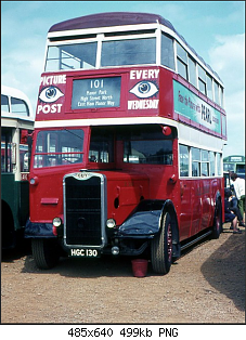 Guy Arab HGC 130, Bus Rally, Stratford-on-Avon, May 1970.png