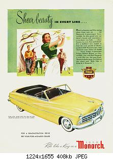 Нажмите на изображение для увеличения Название: 1950 Monarch Ad-01.jpg Просмотров: 1 Размер:407.6 Кб ID:1084029