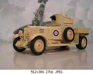 redjeek Rolls-Royce Armored car Matchbox.JPG