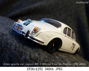 Atlas sports car Jaguar MK ll Winner Tour de France 1960 white  3.jpg
